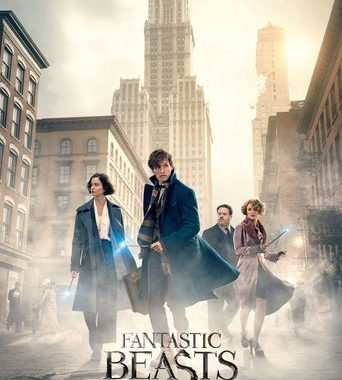 "Poster for the movie ""Fantastic Beasts and Where to Find Them"""